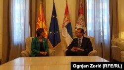 Ambasadorka Makedonije u Srbiji Vera Jovanovska Tipko na sastanku sa Aleksandrom Vučićem