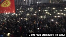 Митинг на площади. 5 октября 2020 года.