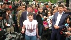Надежда Савченко вернулась на Украину