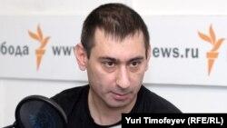 Зафар Хашимов в студии Радио Свобода, июль 2008 года.
