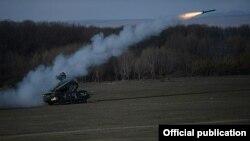 Armenia - An Armenian air-defense system fires a surface-to-air missile during an exercise, 13Nov2014.