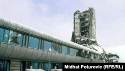 """Zgrada """"Oslobođenja"""" tokom rata"""