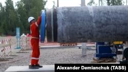 Строительство участка газопровода «Северный поток-2» в Ленинградской области, Россия