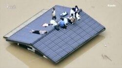 Yaponiyada baş verən daşqında 50-dən çox adam ölüb