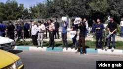 Isfahan--Families of five prisoners sentenced to death in Isfahan gathered in front of Isfahan Prison on July 29, 2020.