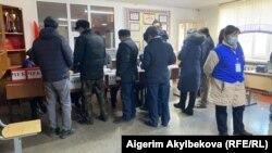 Кыргызстандын президентин шайлоо жана референдум. Талас шаары. 10-январь, 2021-жыл.