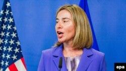 فدریکا موگرینی نماینده ارشد اتحادیه اروپا در امور خارجی و پالیسی