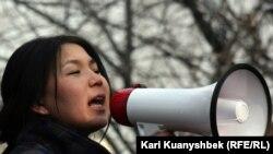 Журналист Инга Иманбай. 2012 год.