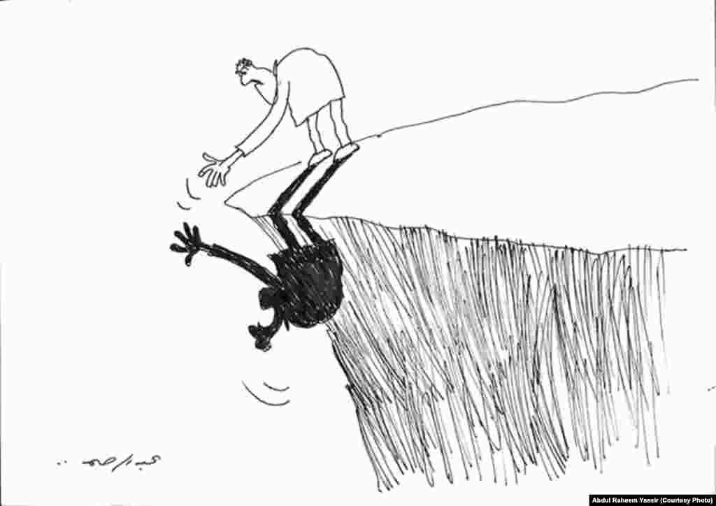 كاريكاتير للفنان عبد الرحيم ياسر