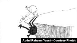 کاریکاتوری از عبدالرحیم یاسر، بغداد.