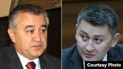 Жогорку Кеңештин депутаттары Өмүрбек Текебаев жана Исхак Пирматов.