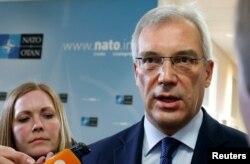 Постійний представник Росії при НАТО Олександр Грушко у штаб-квартирі НАТО у Брюсселі. 20 квітня 2016 року