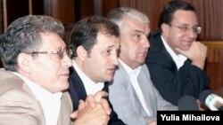 Liderii AIE: Mihai Ghimpu, Vlad Filat, Serafim Urecheanu, Marian Lupu, 26 august 2009