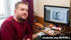 Аўтар кнігі гісторык Андрэй Вашкевіч за працай