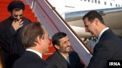 استقبال بشار اسد از محمود احمدی نژاد