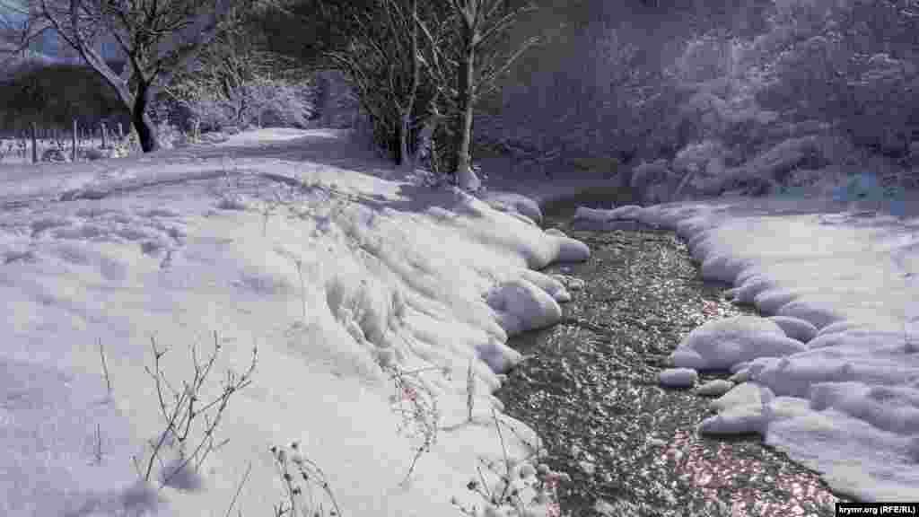 Кизилкобинка в середній течії, неподалік автодороги Сімферополь – Ялта. Через кілька кілометрів «пробігу» уздовж дороги від Перевального до Зарічного вона зіллється з «паралельною» гірською річкою Ангара, утворивши в результаті нову річку Салгир – головну річку Криму