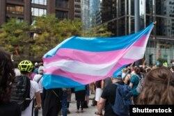 Флаг трансгендерного сообщества.