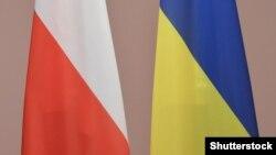 Прапори Польщі та України (ілюстративне фото)