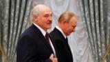 Аляксандар Лукашэнка і Ўладзімір Пуцін падчас сустрэчы ў Крамлі 9 верасьня 2021