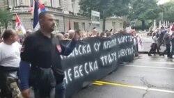 Protest naționalist sîrb împotriva negocierilor dintre Serbia și Kosovo