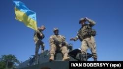 Военные Украины и США на полигоне на Львовщине, 4 июля 2016 года (иллюстрационное фото)