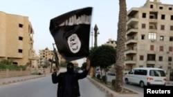 Un mercenar ISIS la Raqqa