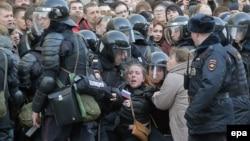 Поліція затримує протестувальників у Москві, Росія, 26 березня 2017 року