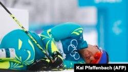 Алексей Полторанин после финиша в забеге на 50 километров. Пхёнчхан, 24 февраля 2018 года.