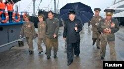 Севернокорејскиот лидер Ким Џонг Ун.