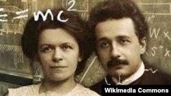 Albert Einstein birinci arvadı Mileva Maric ilə.