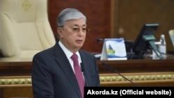 Президент Казахстана Касым-Жомарт Токаев выступает с «посланием народу». Нур-Султан, 2 сентября 2019 года.