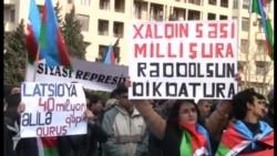 """Milli Şuranın """"Talana və Yalana Son!"""" şüarı ilə mitinqi"""