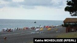 Морской пляж в Кобулети