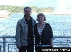 Юры Бандажэўскі з жонкай, Жэнэўскае возера, 2012