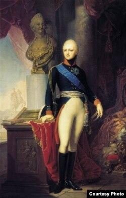 Владимир Боровиковский. Портрет великого князя Александра Павловича. 1800 год