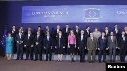 Участники нынешнего саммита ЕС, Брюссель, 28 июня 2012 г.