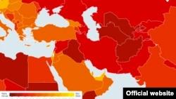 Карта Transparency International.