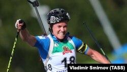 Russia's biathlete Svetlana Sletptsova (file photo)