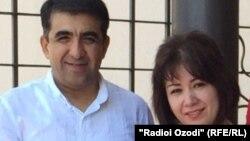 Абдумалик Саломов с супругой. Фото из семейного альбома