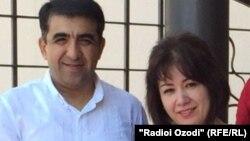 Абдумалик Саломов вместе с супругой.