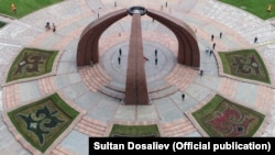 Майдони Ғалаба дар Бишкек. Рӯзи 9 майи соли 2020