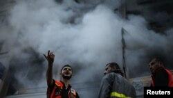 Сектор Газа после ракетного удара Израиля, 19 ноября 2012 года.