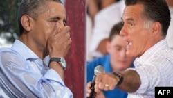 Presidenti amerikan Barak Obama dhe kandidati republikan Mit Romni