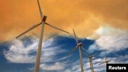 توربینهای بادی در کالیفرنیا