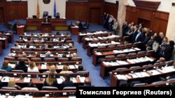 Za je glasalo 80, a protiv predloga 39 poslanika opozicione VMRO DPMNE