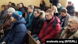 Былыя і цяперашнія працаўнікі «Мілкавіты» ў судзе Савецкага раёну