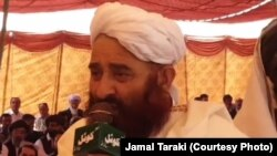An unnamed Afghan Taliban cleric announcing the decision of their mediation in a feud between two Pashtun tribes in Quetta on September 2.