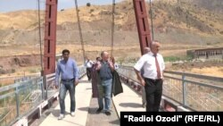FILE: A bridge over the Panj river that seperates northren Afghanistan from Tajikistan's Kulob region.