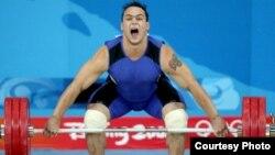 Екі дүркін олимпиада чемпионы Илья Ильин. Пекин, 2008 жыл.