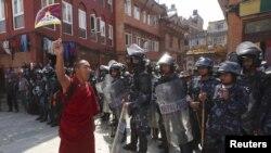 Демонстрация за свободу Тибета в Непале